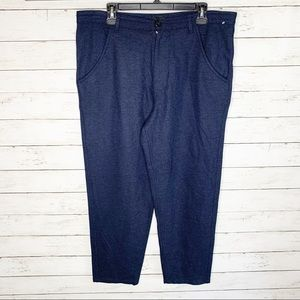 NWOT RAF SIMONS Blue Wide Leg Trousers